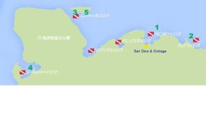 バリ島西部マップ