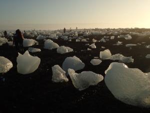 海岸の氷塊