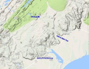 アイスランド南部地形図