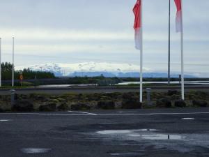 バス停から見える最大の氷河